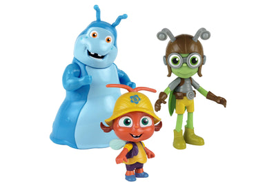 Kit 3 Figuras - Buzz, Crick e Walter - Beat Bugs
