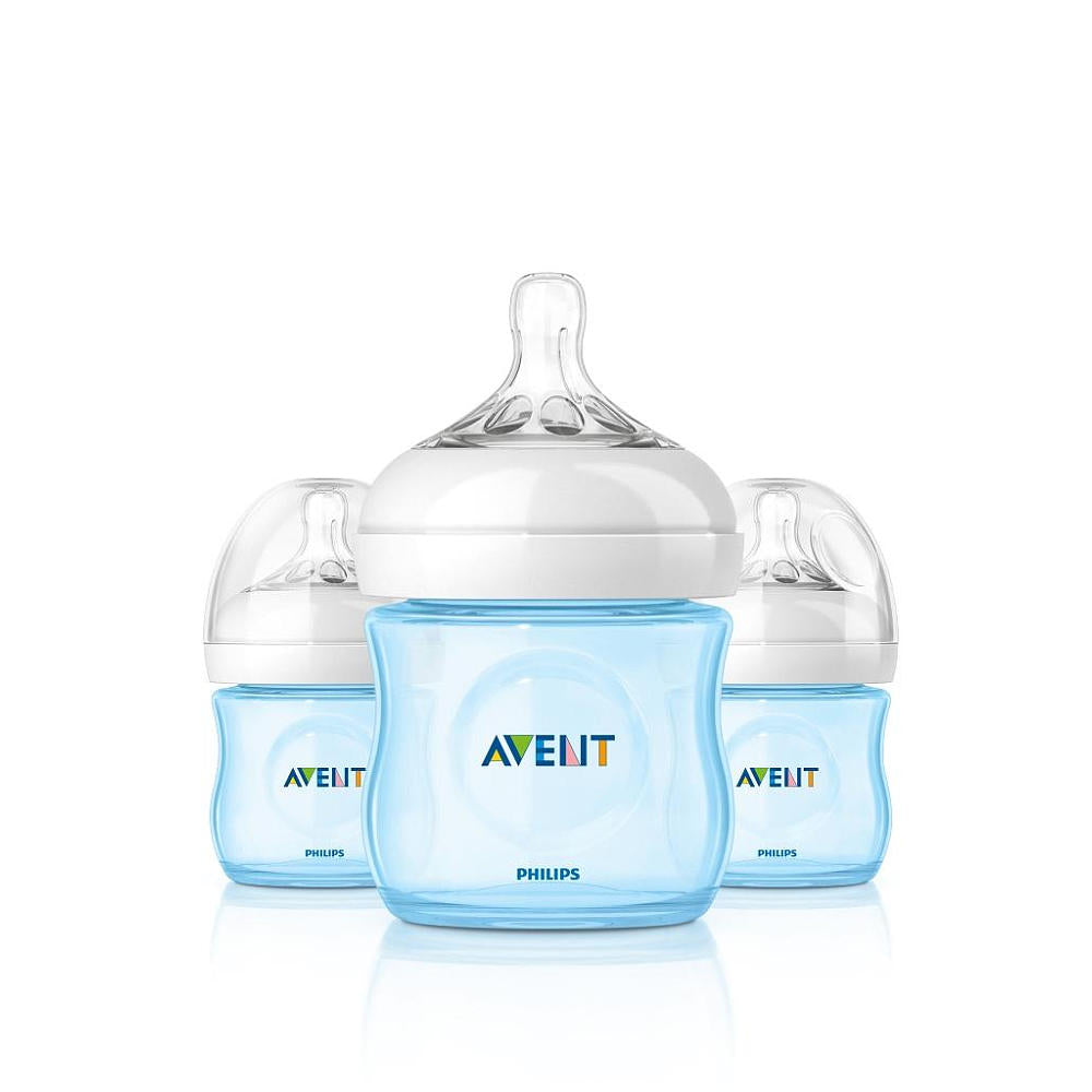 Kit 3 Mamadeiras - Natural Flow Azul - Avent Philips 120ml