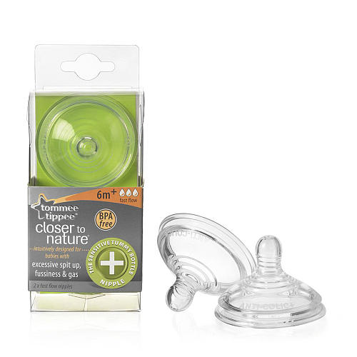 Kit 4 Bicos Fluxo Rapido 6m+ Anti-Colicas -Tommee Tippee