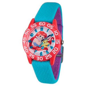 Relógio Princesa Ariel Red Plastic Time Girls 'Girls - Azul