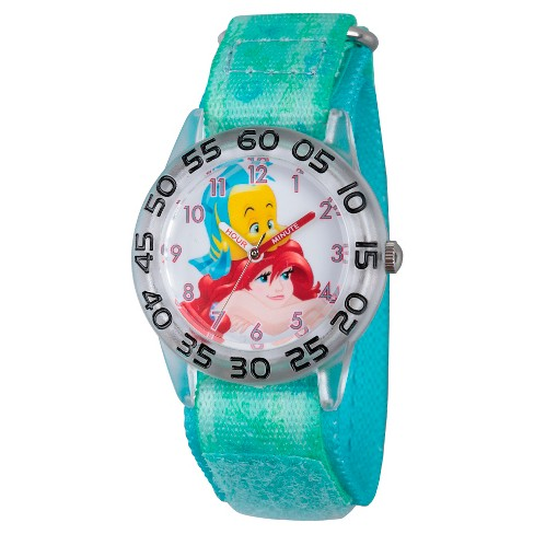 Girls 'Princesa Ariel Clear Plastic Time Professor Assistir - Verde