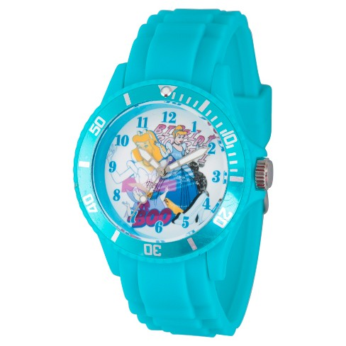 Women's Disney Princess Cinderella, Fairy Godmother White Plastic Watch - Blue