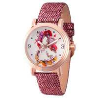 Disney Princess Belle Rosegold Vintage Alloy Watch - Roxo