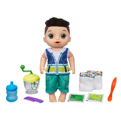 Bebê vivo Sweet Spoonfuls Baby Doll Boy - moreno