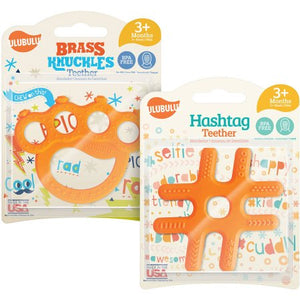 Expressão de Ulubulu Brass Knuckles Teether e Hashtag Teether Combo