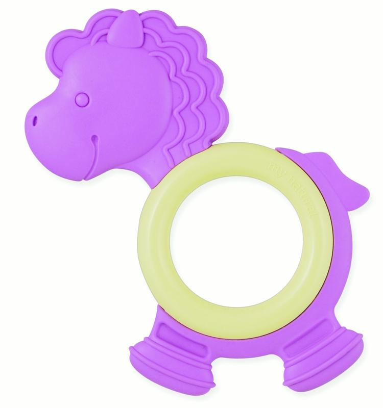 Meu Natural Eco Teether, Purple Pony