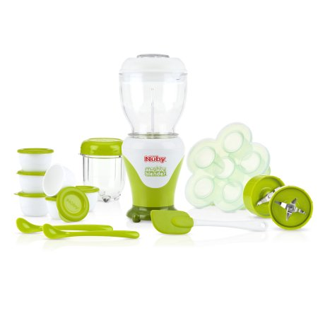 Nuby Garden Fresh Mighty Blender Baby Food Maker, conjunto de 22 peças