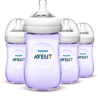 Kit 4 Mamadeiras Lilas 260ml - Avent Philips