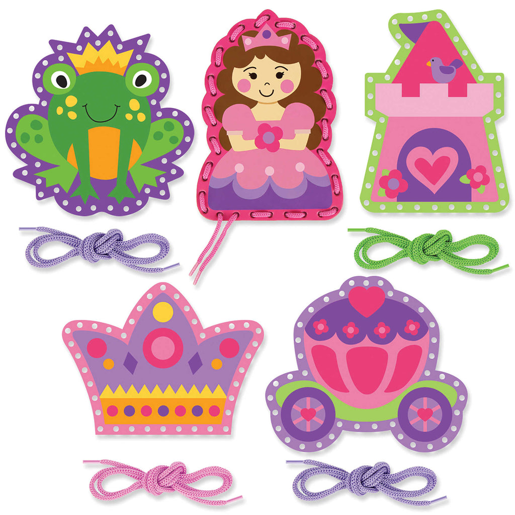 Princesa Lacing Cards (Conjunto de 5) - Stephen Joseph