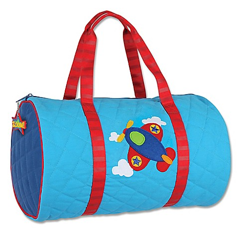 Blue Airplane Quilted Duffle - Stephen Joseph