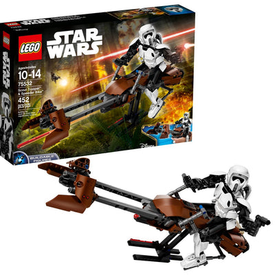 LEGO Constraction Star Wars Scout Trooper e Speeder Bike