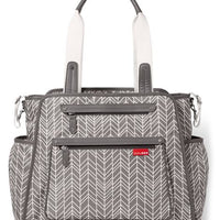 Bolsa Grand Central Tote Diaper Bag cinza