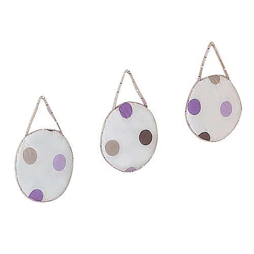 Enfeite de Parede - Purple and Chocolate Dots - JoJo Designs
