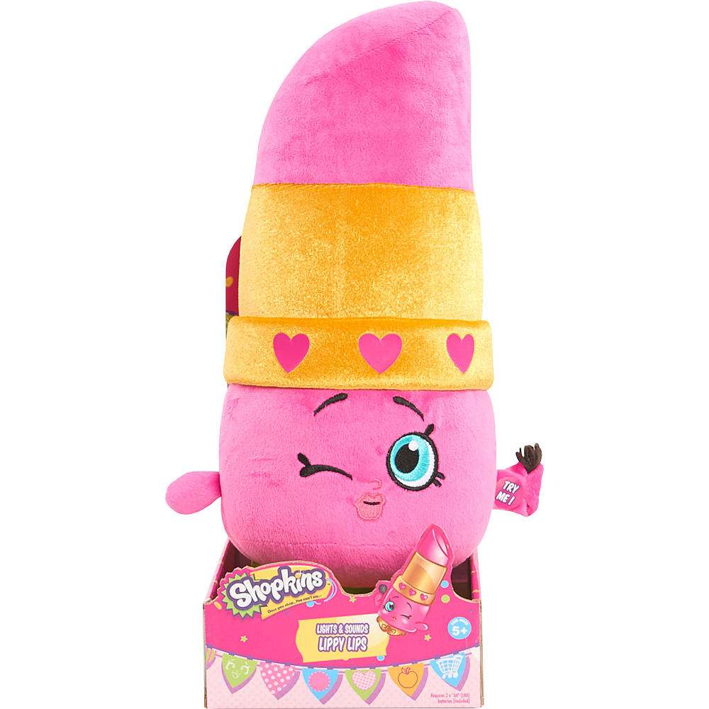 Pelucia  Lippy Lips Luzes e Sons - Shopkins