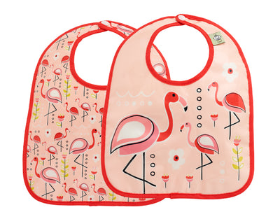 Mini Bib Gift Set-of-Two Flamingo - Sugarbooger