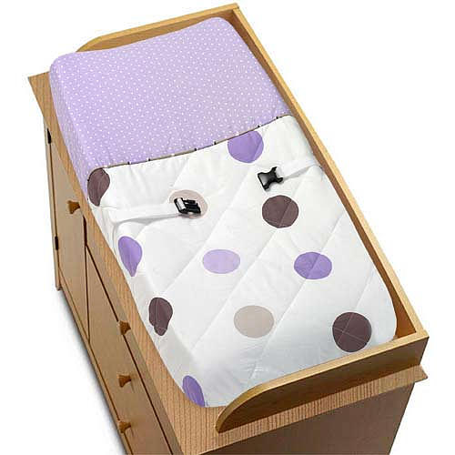 Capa de Trocador - Purple and Chocolate Dots - JoJo Designs