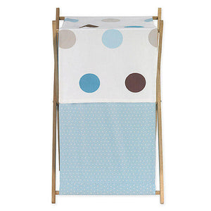 Cesto - Blue and Chocolate Dots - JoJo Designs