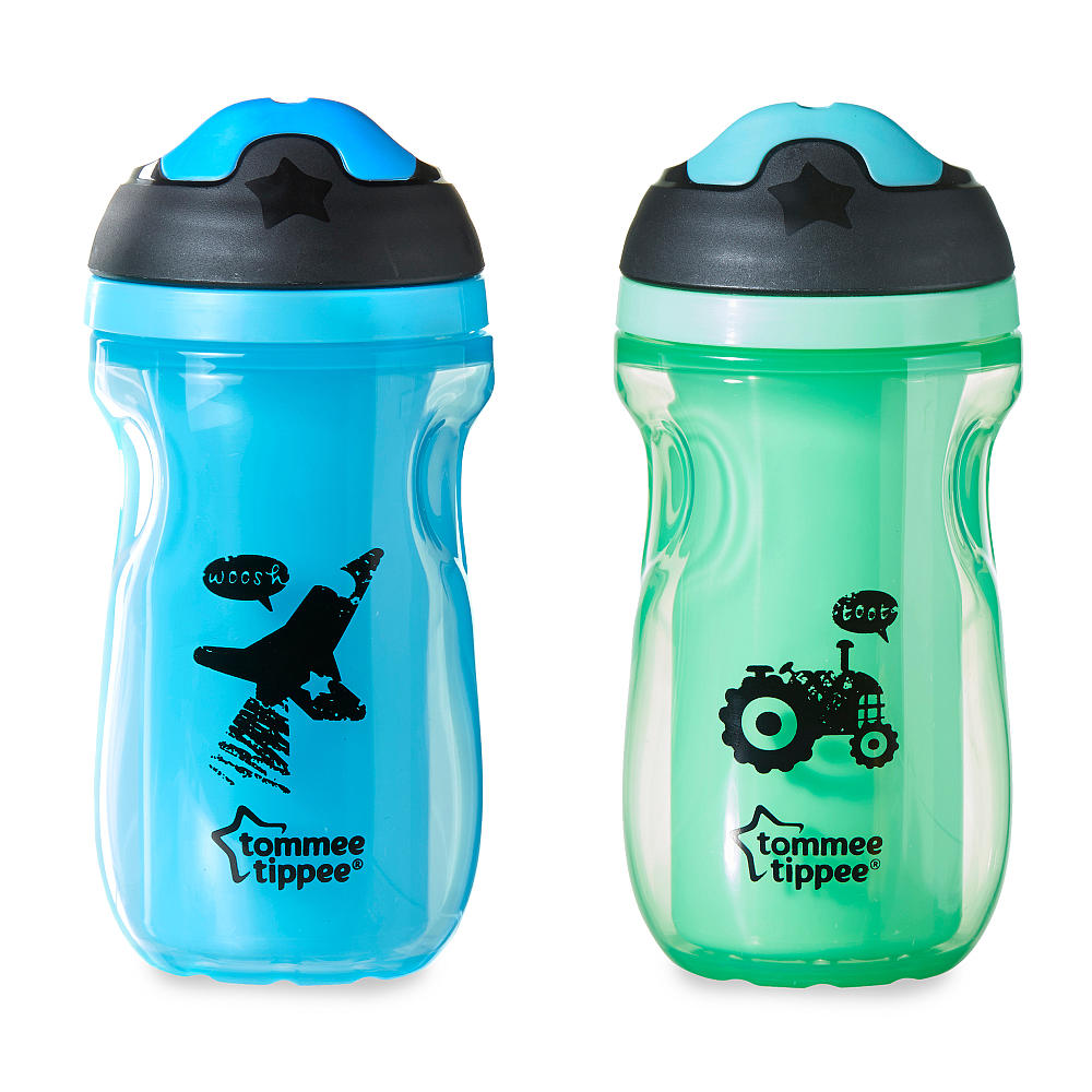 Kit Copos Sipper Azul e Verde - Tomme Tippee