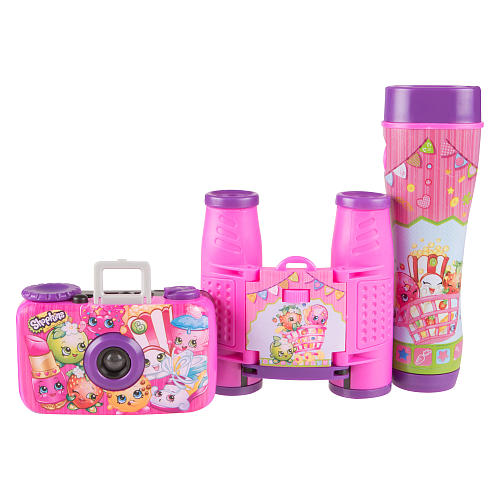 Kit Binóculos, Lanterna e Camera - Shopkins