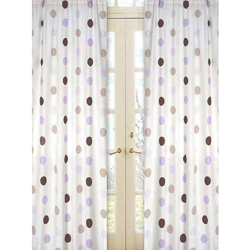Painel de Janela - Purple and Chocolate Dots - JoJo Designs
