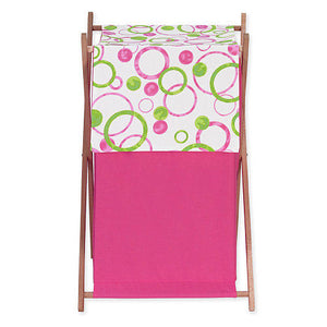Cesto - Pink and Green Circles - JoJo Designs