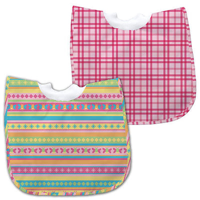 Kit de Babadores Plaid & Bright Stripes 12-24m - Green Sprouts