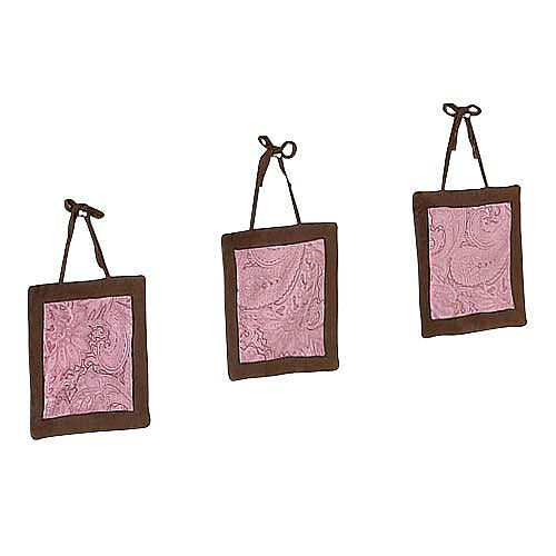 Enfeite de Parede - Pink and Brown Paisley - JoJo Designs