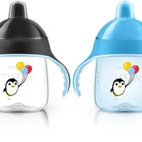Copo Sippy Pinguim Azul - Avent Philips - 12M