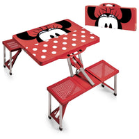 Picnic Time Disney Minnie Mouse Portable Folding Picnic Table - Red