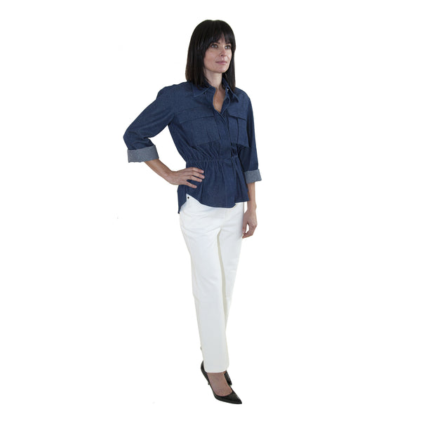 Solace of London's Gala Denim Top