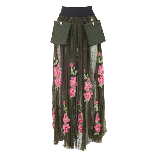 Madison Tulle Skirt with Flowers
