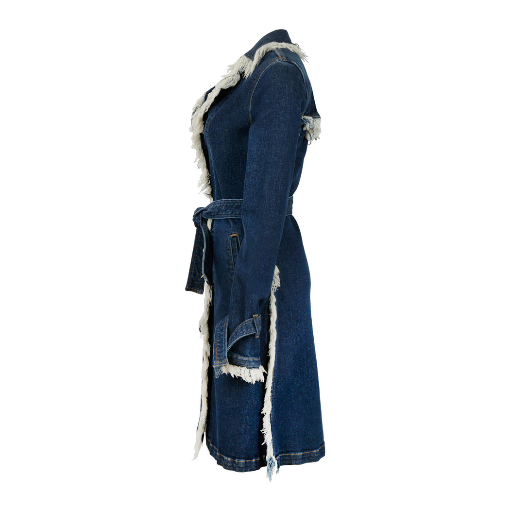 CHICAGO DENIM COAT KNEE LENGTH