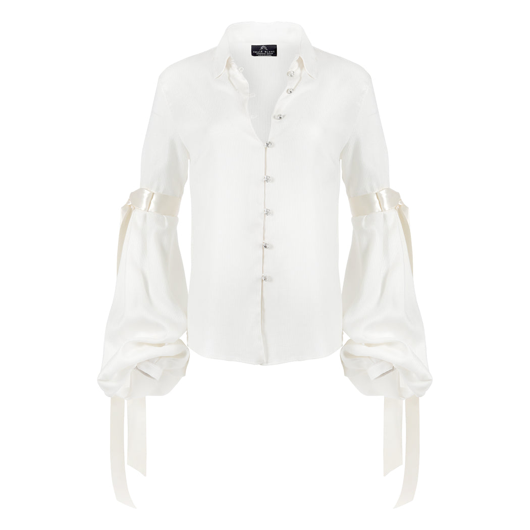 Bell Sleeve Blouse in Ivory
