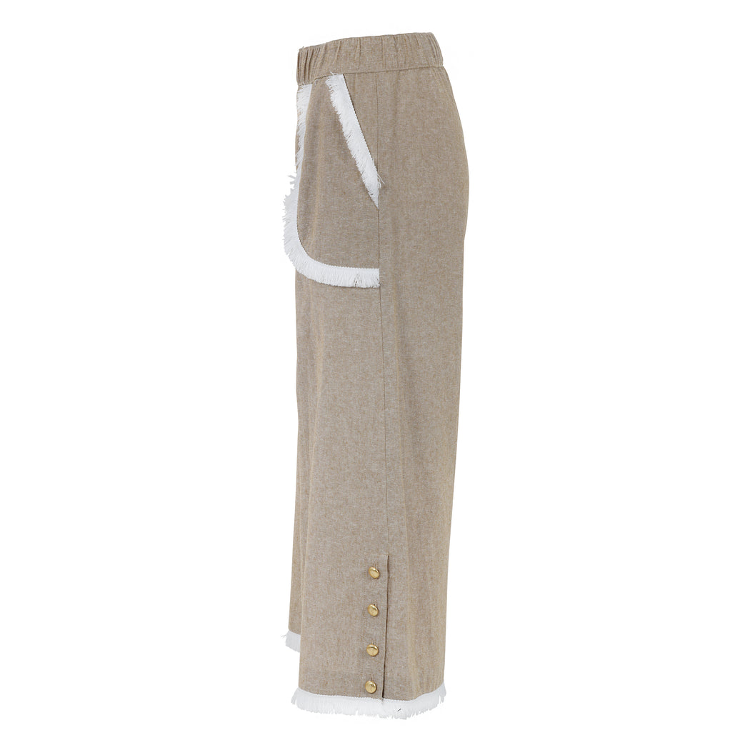 Gaucho Pants in Beige