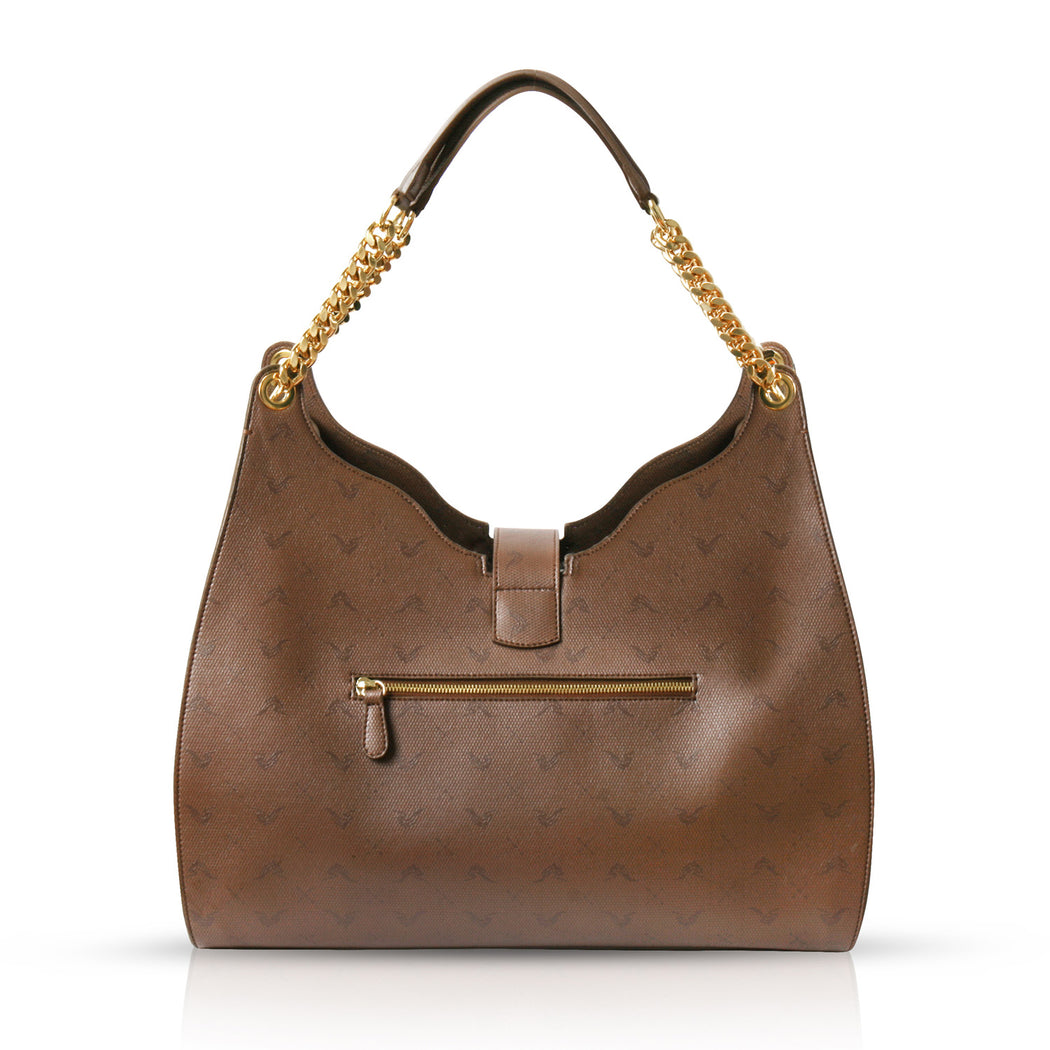 Designer bags that are vegan: Brown vegan shoulder bag