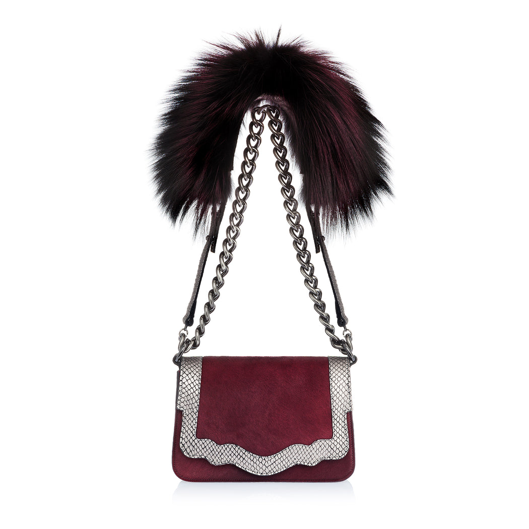Audreyette Mini Novelty: Designer Crossbody in Merlot
