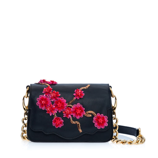 Audreyette Mini: Designer Crossbody in Black