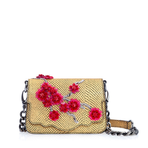 Audreyette Mini: Designer Crossbody in Gold