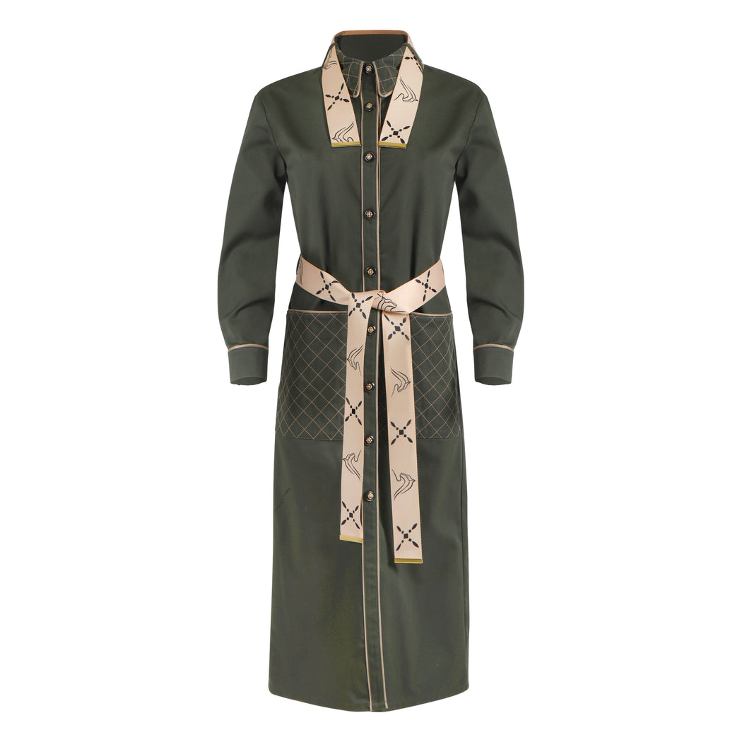BEVERLY QUILTED COAT DRESS