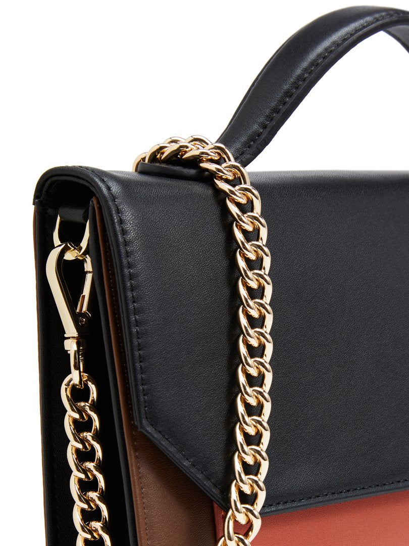 Closeup of chain handbag strap