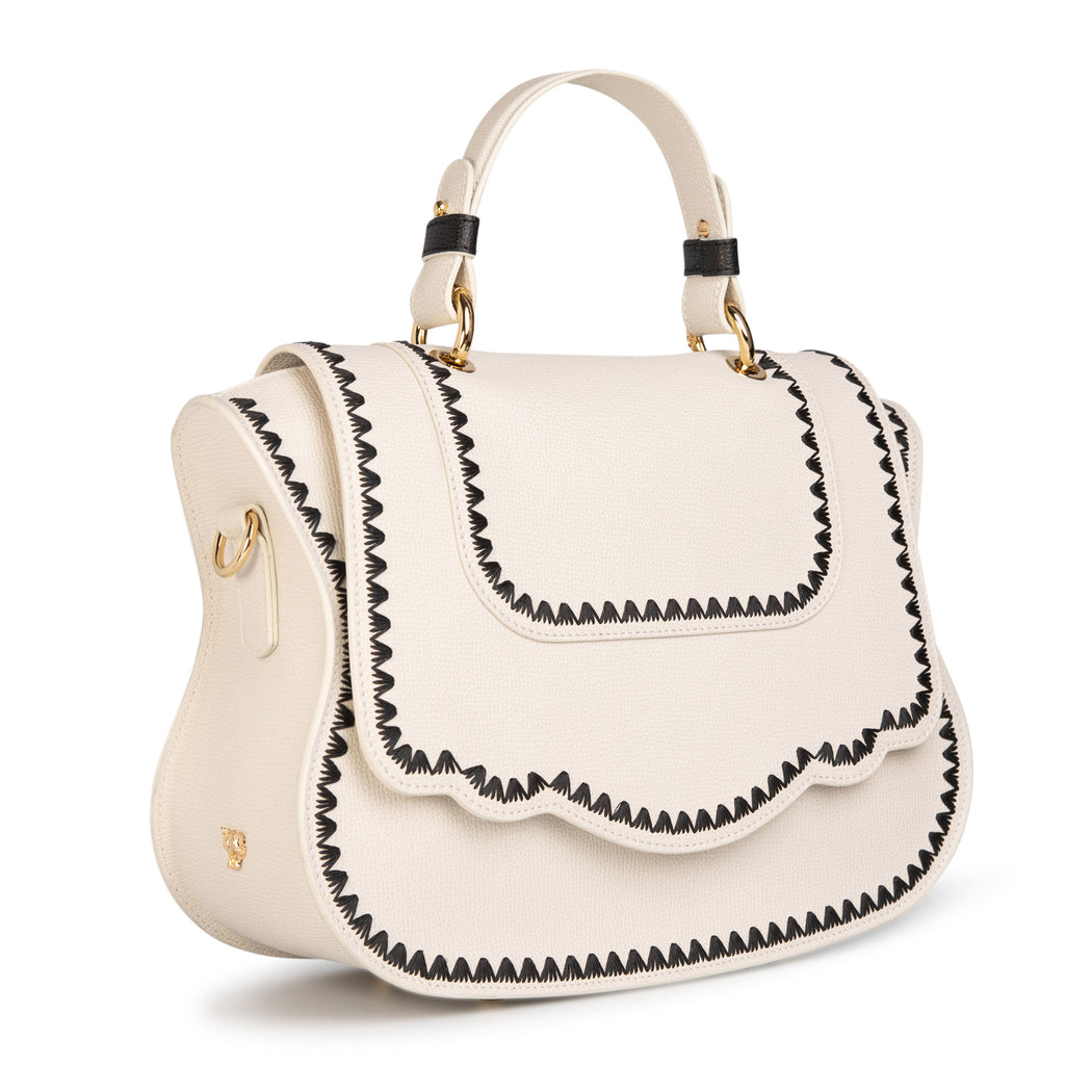 Women's designer satchel handbag