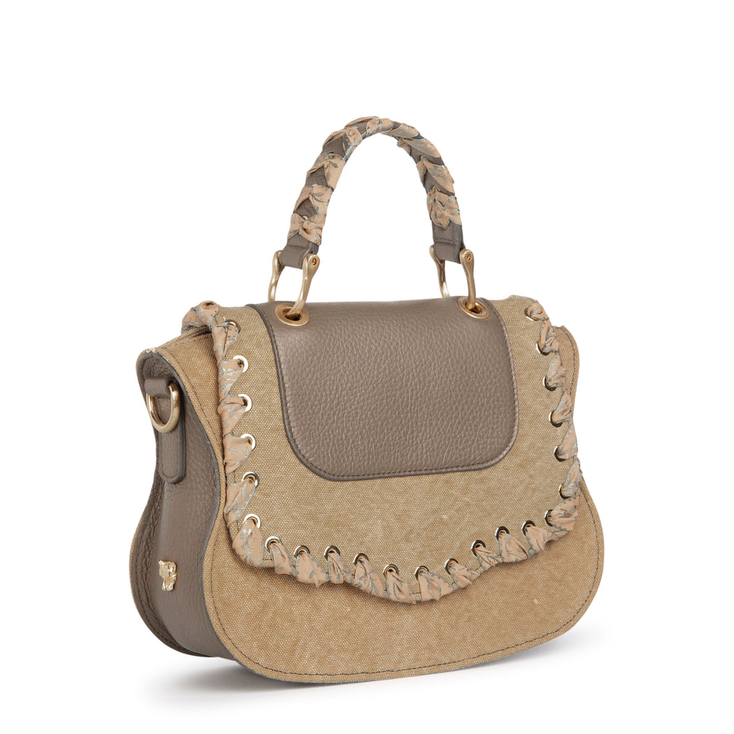 Women's designer handbag: Mini crossbody bag in khaki