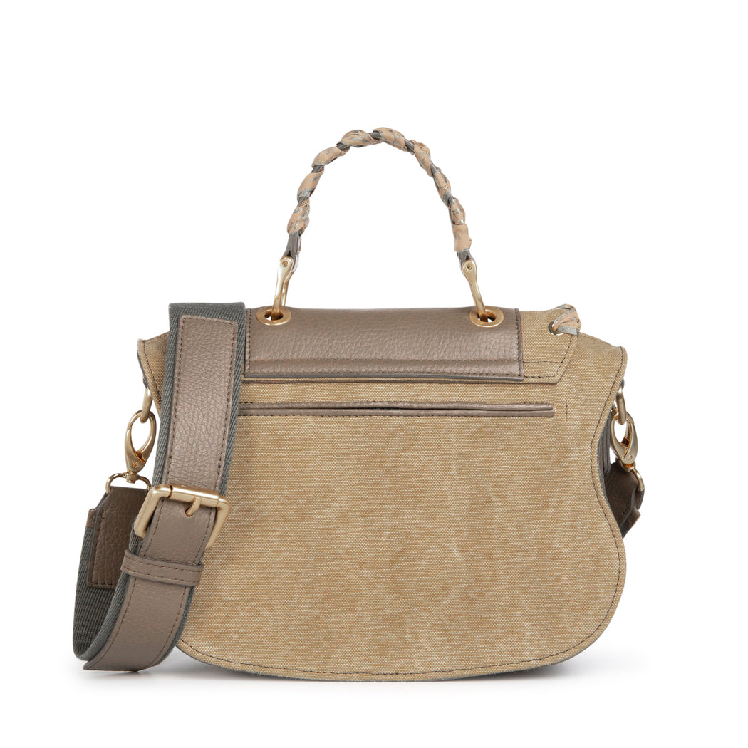 Luxury crossbody bag/designer purse, khaki