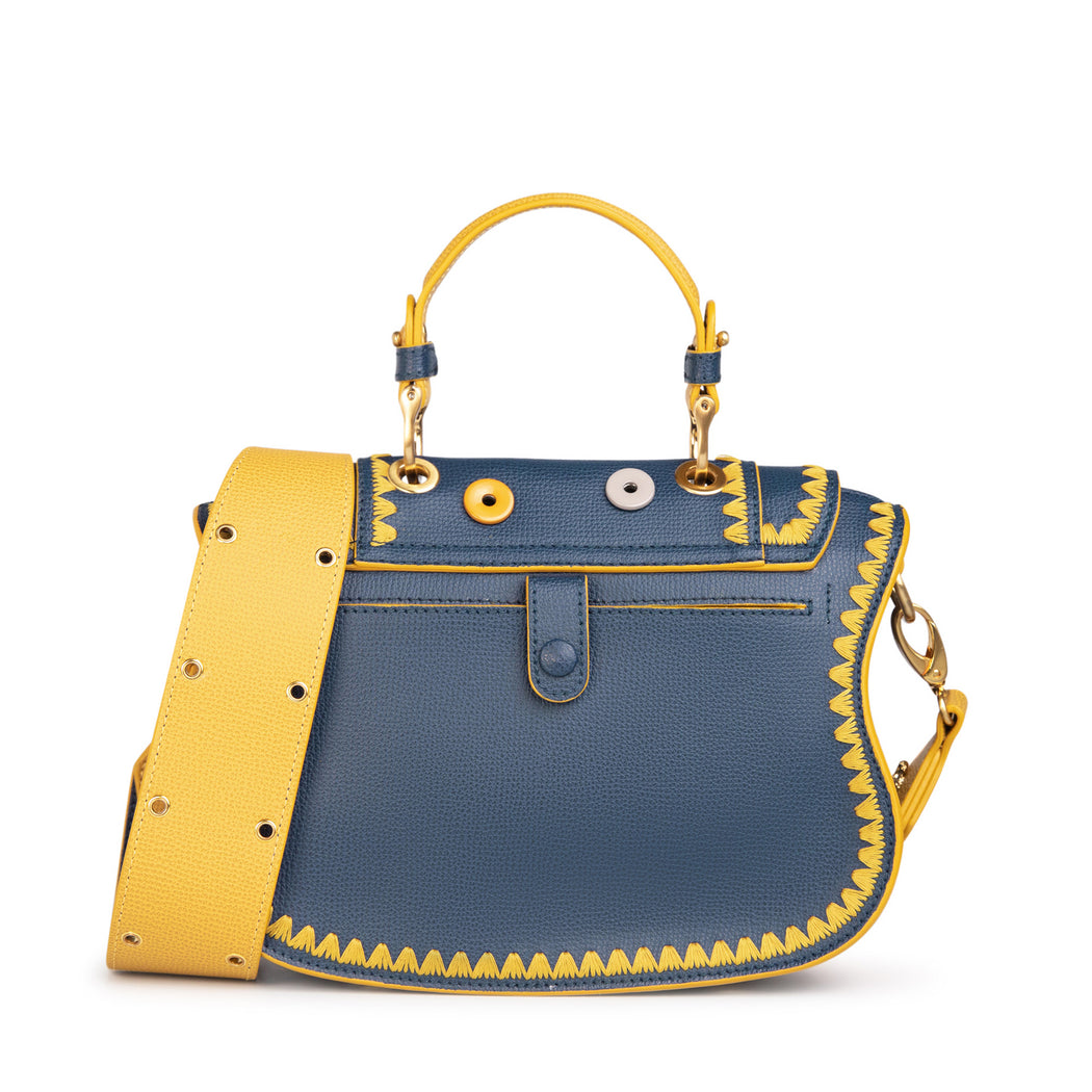 Women's designer handbag that can be converted to mini tote bag
