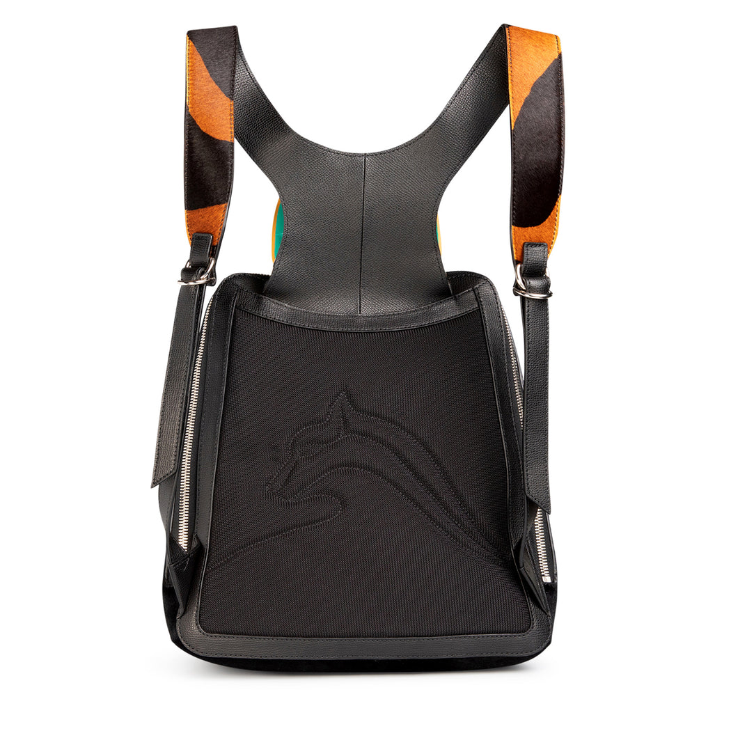 Racer Haircalf Leather Backpack
