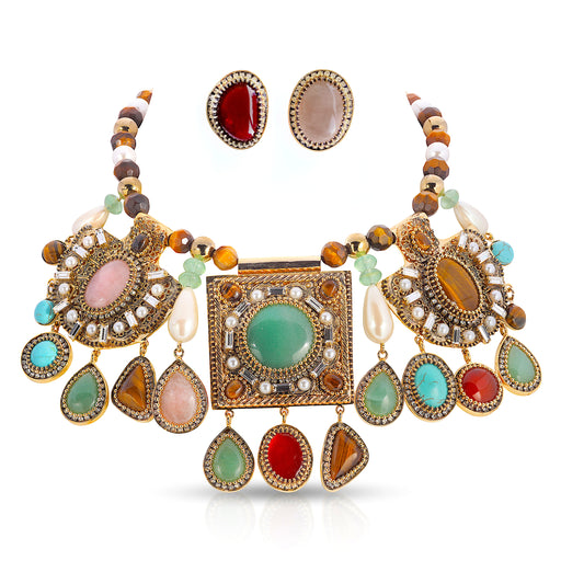 Byzantine Necklace and Earring Set