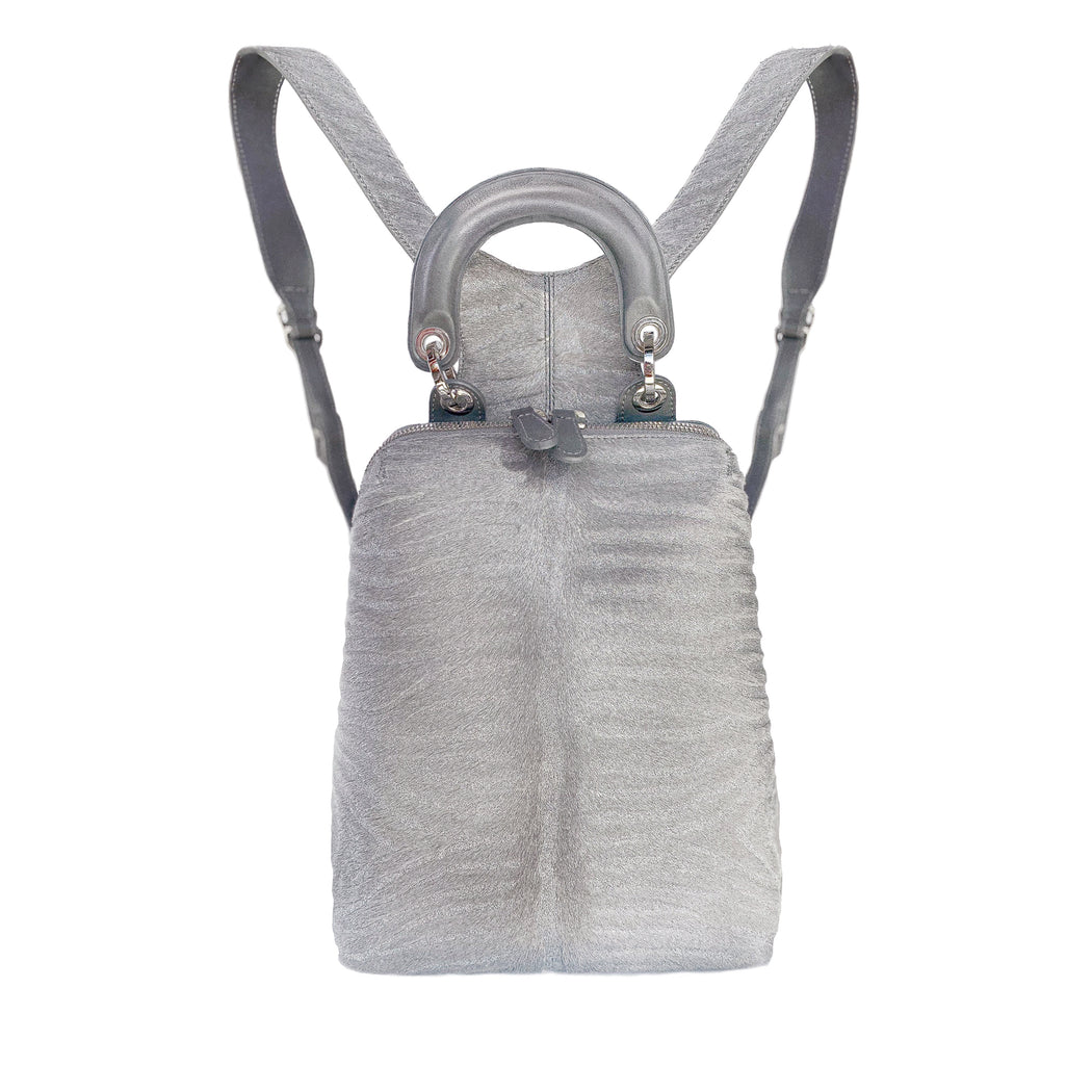 Racer Backpack Mini -Silver Cavallino