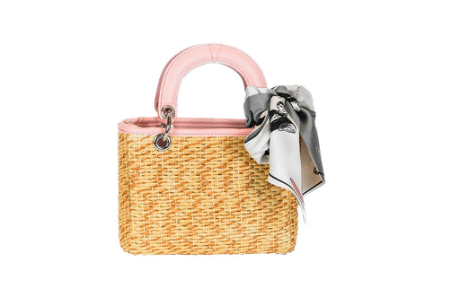 Mini Tote Summer Rattan PU Bag