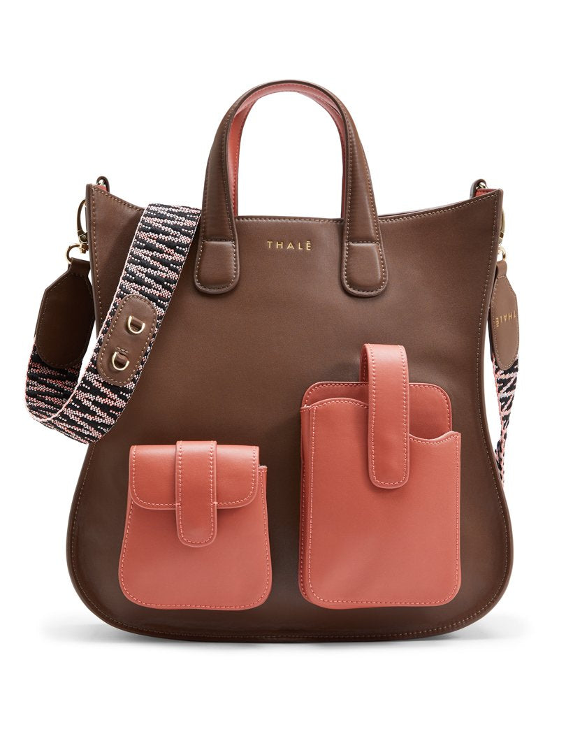 Best designer tote bag for work: Medium tote in brown leather