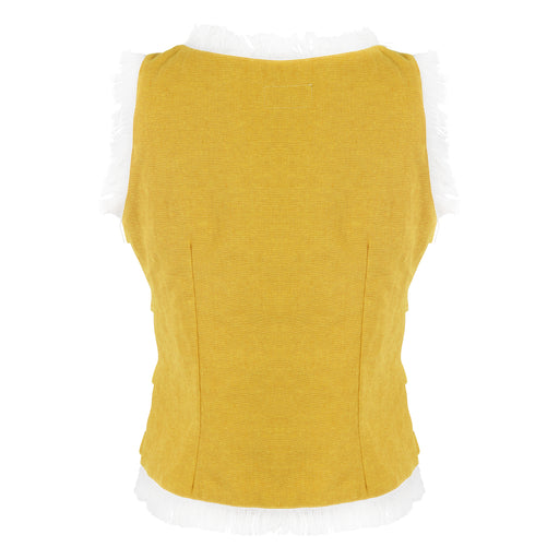 Crop Blouse in Yellow
